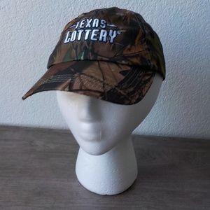 Texas Lottery Camo Cap Hat Green Brown Unisex